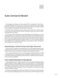 Components Of A Spreadsheet Gate Demand Model Airport Passenger Terminal Planning And Design