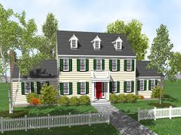 3 Storey House Plans Plain 3 Story Colonial House Plans Style Floor 61389 And Design