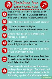 christmas fire safety checklist smart kids 101