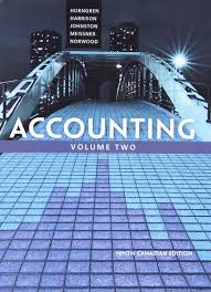 accounting volume 2 ninth canadian edition plus myaccountinglab