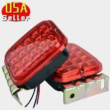 led trailer tail lights 2x red 4 5 led trailer tail light kit brake turn signal utility rv