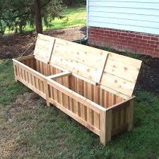 best scheme hand made custom western red cedar patio storage bench