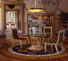 Round Dining Room Set Versace Design Round Dining Table Set 5014 1 Ebay