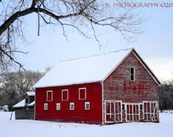 Red Shed Home Decor Red Barn Photograph Etsy