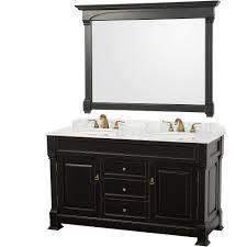 Wyndham Collection WCVTDBLCW Andover  Double Bathroom Vanity - Carrera marble bathroom vanity
