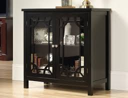 steinhafels black display cabinet