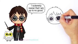 hd draw harry potter step step chibi