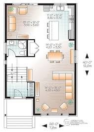 floor plans for narrow lots house plan w3473 detail from drummondhouseplans com