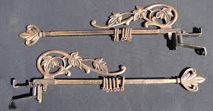 Swing Arm Curtain Rod Antique Leaf Design Swing Arm Curtain Rods 1antique Shop