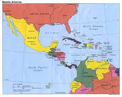 Blank North America Map by Map Of Mexico And Central America Blank Map Of Mexico And