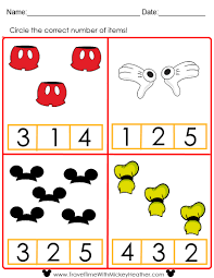 Preschool Worksheet Disney Counting Worksheet Educational Disney Pinterest