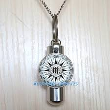 ashes locket scorpio compass urn cremation necklace locket perfume