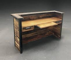 Diy Reclaimed Wood Desk Reclaimed Wood Reception Desk Abundantlifestyle Club