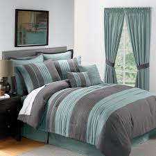 Bedding With Matching Curtains Blue And Grey Comforter Sets Visionexchange Co