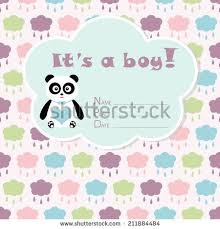 baby arrival card baby shower stock vector 292177730