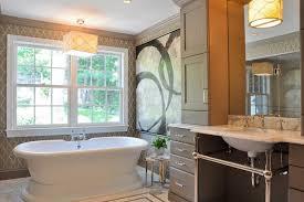 freestanding bathtub bathroom contemporary with bathroom fireplace