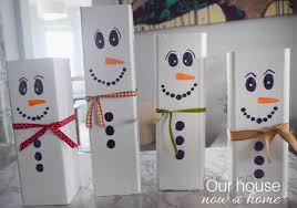 wooden snowman wooden snowman craft easy christmas decoration idea our house