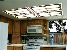 Fluorescent Light Kitchen Fluorescent Light Covers For Kitchen Wood Kitchen Light Fixtures