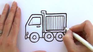 how to draw a cartoon dump truck youtube