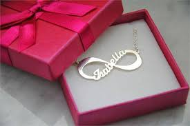 Infinity Necklace With Name Silver Infinity Necklace With Engraved Name Kaya Jewellery Uk