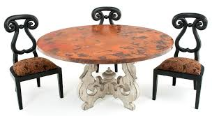 Tuscan Style Dining Room Furniture by Round Copper Dining Table With Old World Base Custom Sizes