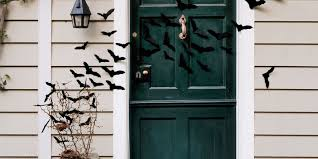 bat filled front door halloween craft ideas
