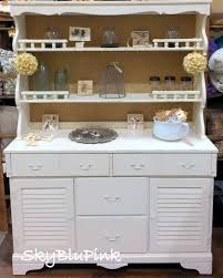 Super Hutch Skyblupink Creations Annie Sloan Chalk Paint Burlap Hutch Old White