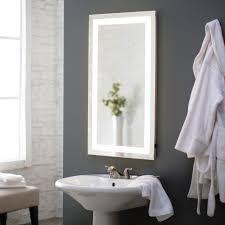 minimalist vanity large mirror for bathroom oval shape frameless design led lighted