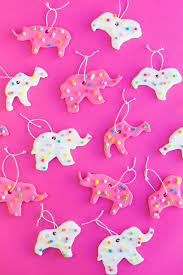 Baby Pink Christmas Decorations Diy Circus Animal Cookie Ornaments Studio Diy