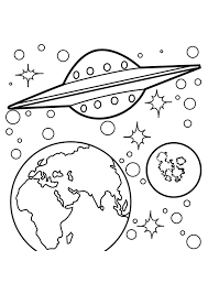 planet coloring pages alien ship coloringstar