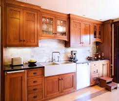 kitchen with wooden cabinets and modern faucet kitchen faucet