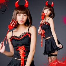 Piece Halloween Costumes Sexyqueen Rakuten Global Market Horns Headband Devil