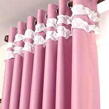 Ruffled Pink Curtains Pink Ruffle Blackout Curtains Lovable Ruffled Pink Curtains And