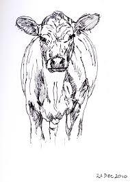 frabjous art musings cow sketch 92
