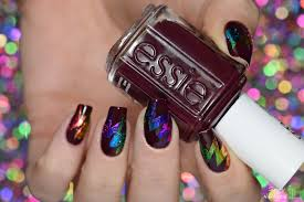 simply nailogical abstract starburst rainbow foil nail art
