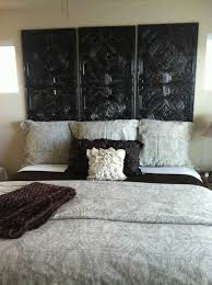 Carved Wood Headboard Bedroom Artistic Black Carving Wooden Headboard Ideas For