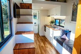 designing a tiny house familiar layout gets the modern treatment in this bright tiny