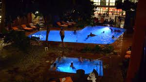 hotel cascada waterpark indoor swimming pool at night youtube