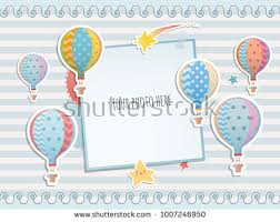 baby shower paper baby shower scrapbook icons free vector stock
