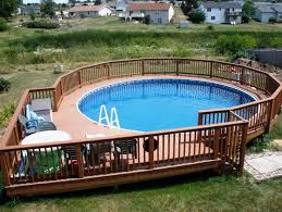 above ground pool with deck pool deck ideas partial deck the