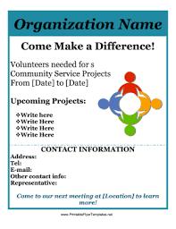 volunteer brochure template community service flyer png