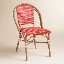barbados cherry kaliko french bistro chairs set of 2 world market