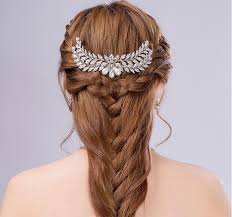 decorative hair combs sweetly bridal hair combs pearl leaf shape tiara wedding