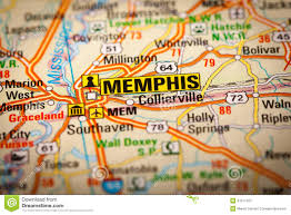 Map Of Memphis Tennessee by Memphis City On A Road Map Stock Photo Image 41311437