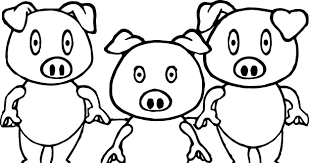 3 little pigs shock coloring page wecoloringpage