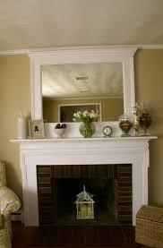 mirror above fireplace mantel home design ideas