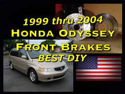 2003 honda odyssey brake pads honda odyssey 99 04 front brake pads and rotor replacement