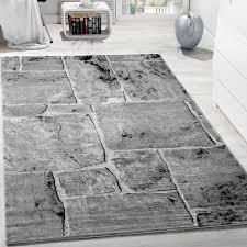 designer teppich designer teppich modern trendig meliert steinoptik mauer muster