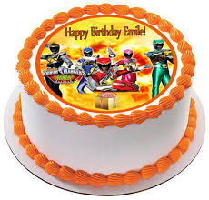 power rangers birthday cake power rangers dino charge 1 edible cake or cupcake topper edible