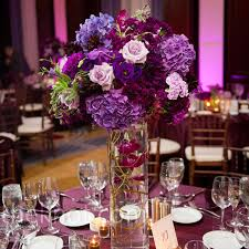 Purple Flowers Centerpieces by Purple Floral Centerpieces Would Add Blue And Green And White